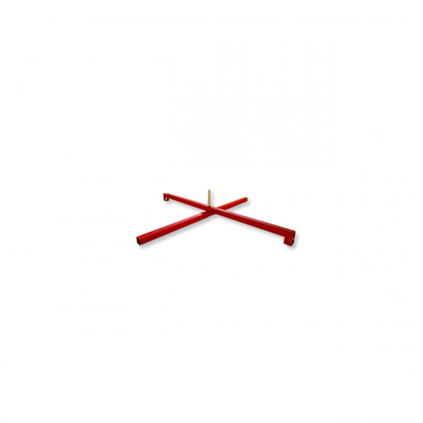 Einzelständer Stahl/ Rot